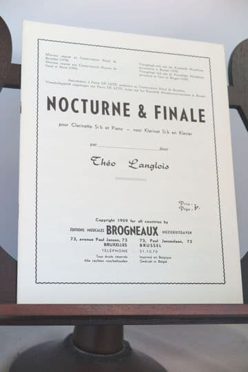 Langlois T - Nocturne & Finale for Clarinet & Piano